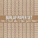 Burlap Jumbo Set Digital Papers