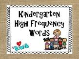 Burlap Kindergarten High Frequency Words