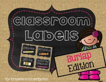 Burlap Labels