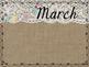 Burlap & Lace Birthday Months Display