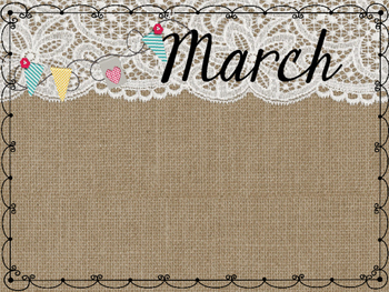Burlap & Lace Birthday Months Display