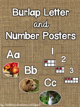 Burlap Letter (non-fiction pictures) and Number Posters