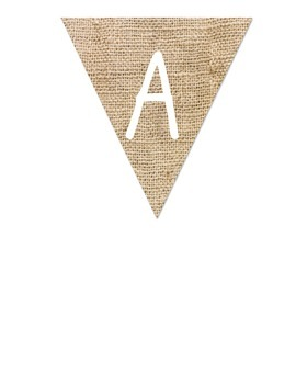 Burlap Letters for Banners