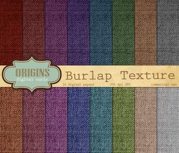 Burlap Linen Canvas Fabric Texture digital paper backgrounds