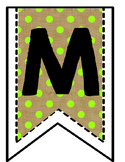Burlap Math Banner