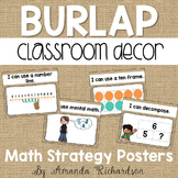Burlap Math Strategy Posters