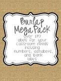 Burlap Mega Pack ( Over 170 classroom labels)