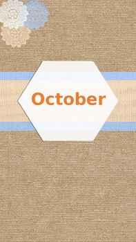 Burlap Monthly Dividers