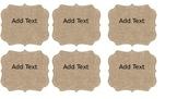 Burlap Name Tags - Editable
