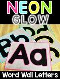 Neon & Burlap Alphabet Word Wall Cards or Pocket Chart Til