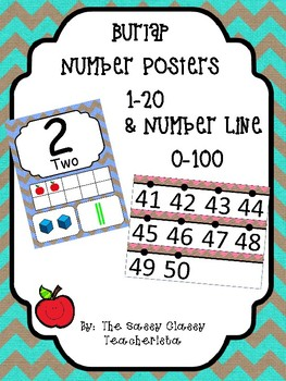 Burlap Number Posters and Number Line