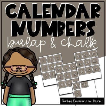 Burlap Numbers 0-100 for Calendars or Hundreds Chart