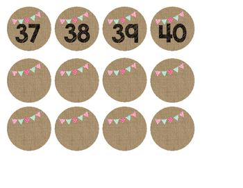 Burlap Numbers 1-40