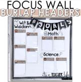 Burlap Objective Headers