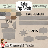 Burlap Page Accents Frames, Headers, Tabs, and Shapes Clip