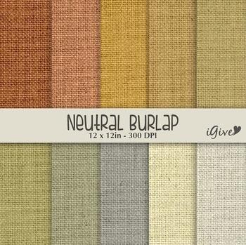 """Burlap Paper """"Neutral"""""""