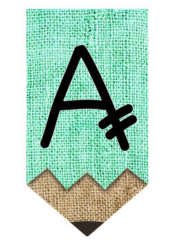 Burlap Pencil Letters