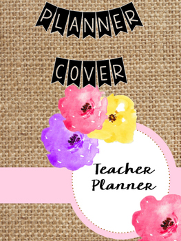 Burlap Planner Cover
