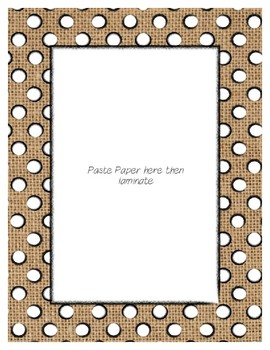 Burlap Poster Frames * Create Your Own Dream Classroom / Daycare *
