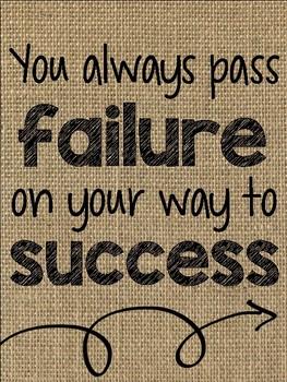 Burlap Quote Posters