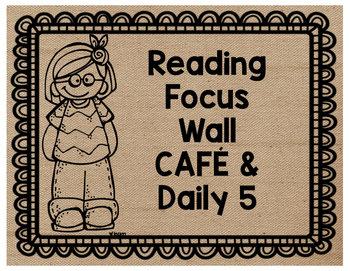 Burlap Reading Focus Wall