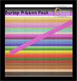 Burlap Ribbon Clip Art Pack