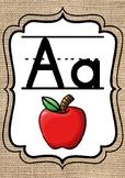 Burlap Rustic Farmhouse Alphabet Posters