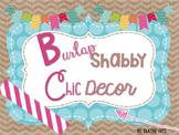 Burlap Shabby Chic Classroom Decor