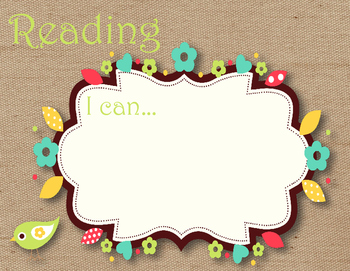 Burlap Shabby Chic Learning Targets Set