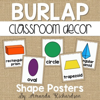 Burlap Shape Posters