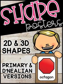 Burlap Shape Posters - Burlap Decor