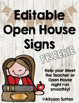 Burlap & Shiplap Editable Open House Signs FREEBIE!