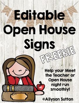 Burlap & Shiplap Editable Open House Signs FREEBIE!