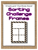 Burlap Sorting Mat Frames * Create Your Own Dream Classroo