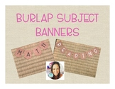 Burlap Subject Banners