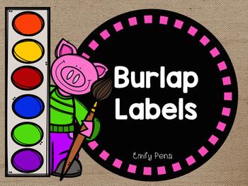 Burlap Supply Labels