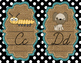 Cursive Alphabet Mini Posters -Turquoise, Burlap, and Blac