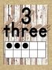 Burlap Ten Frame Numbers 0-20