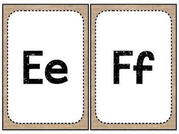 Burlap Themed Alphabet Line