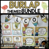 Burlap-Themed Classroom Decor BUNDLE