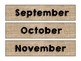 Burlap Themed Months for Calendar