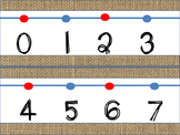 Burlap Wall Number Line