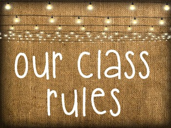 Burlap Whole Brain Class Rules