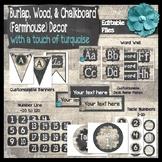 Burlap, Chalkboard, & Wood (Farmhouse) Classroom Decor