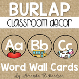 Burlap Word Wall Alphabet