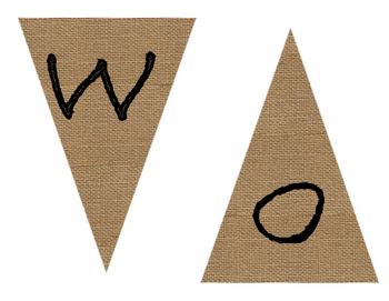 Burlap Word Wall Banner