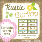 Burlap Word Wall {EDITABLE}