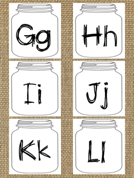 Burlap Word Wall Letters