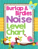 Burlap and Birdies Noise Level Chart