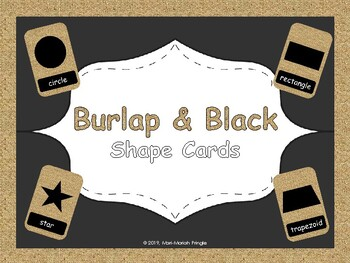 Burlap and Black Shape Cards